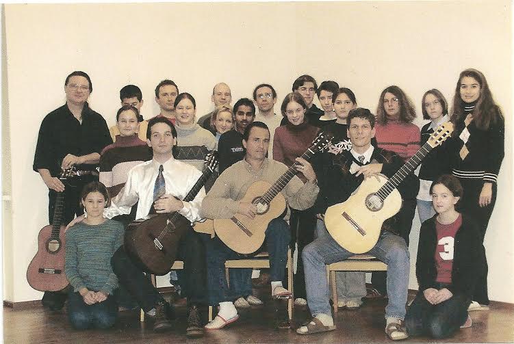 Antonio Rodríguez Delgado con sus alumnos