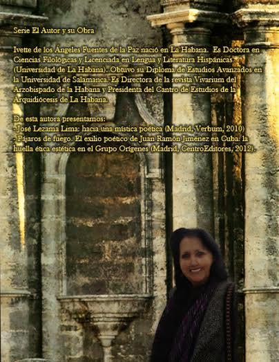 Ivette Fuentes. Contracubierta de su libro Danza y Poesía