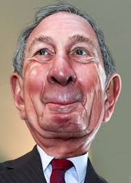 Michael Bloomberg caricatura