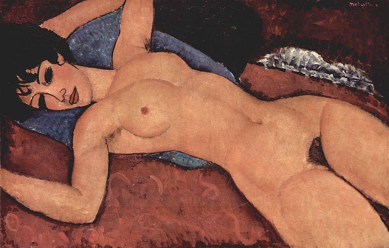 Mujer desnuda de Amadeo Modigliani. 1917