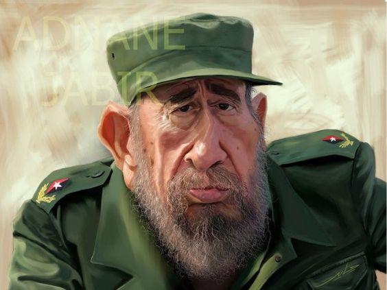 Fidel Castro. Caricatura 2